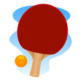 乒乓球球拍和球 库存图片