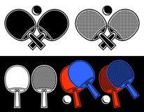 乒乓球的球拍。 免版税库存照片