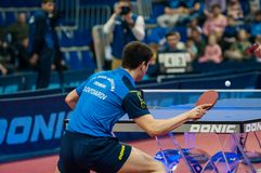 乒乓球竞争 免版税图库摄影