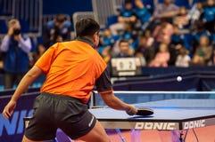 乒乓球竞争 免版税库存图片