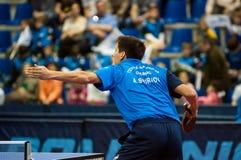 乒乓球竞争 库存图片