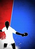 乒乓球背景 免版税图库摄影
