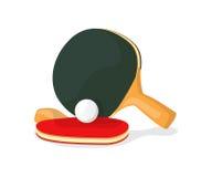 乒乓球调色板 皇族释放例证