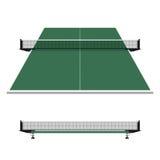 乒乓球,乒乓球网 库存照片
