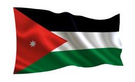 乔丹标志 世界的一系列的`旗子 `国家-约旦旗子 皇族释放例证