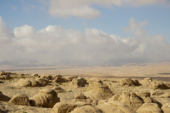 乔丹的沙漠和山 免版税库存图片