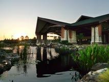 乔克托人赌博娱乐场和旅馆日出的, Pocola,俄克拉何马 免版税图库摄影