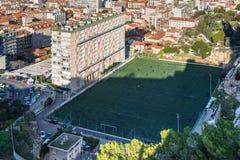 乔凡尼` s橄榄球场在马赛,法国 库存照片