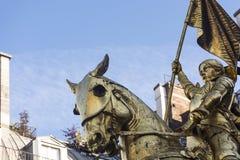 乔安妮d'Ark,细节 巴黎 法国 库存图片