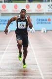 乔尔Fearon - 100米奔跑 免版税库存照片