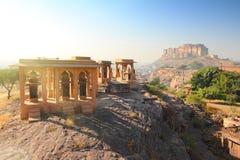乔德普尔城印度- Jaswant Thada和堡垒 免版税图库摄影
