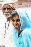 乔德普尔城,印度, 2010年9月10日:印地安夫妇画象  免版税图库摄影