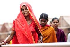乔德普尔城,印度, 2010年9月10日:年轻印地安wom画象  免版税库存图片