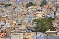 乔德普尔城,拉贾斯坦,印度 老结构城市 免版税图库摄影