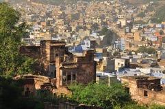 乔德普尔城,拉贾斯坦,印度 老结构城市 免版税库存图片