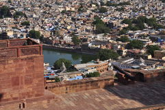 乔德普尔城,拉贾斯坦,印度 老结构城市 库存图片