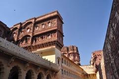 乔德普尔城,拉贾斯坦,印度 Mehragarth堡垒 免版税库存照片