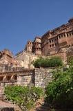 乔德普尔城,拉贾斯坦,印度 Mehragarth堡垒 免版税库存图片
