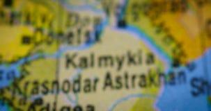 乔治亚地区国家地图在地球的 股票视频