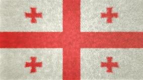 乔治亚旗子的原始的3D图象  向量例证