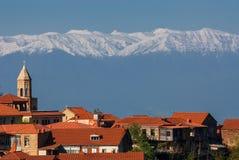 乔治亚西格纳吉古城 免版税库存图片
