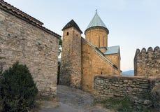 乔治亚, Ananuri古老堡垒, 16世纪 库存照片