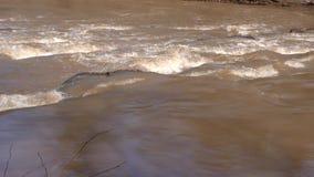 乔治亚, Olde绳索磨房Rd公园,关闭在小的河的急流 影视素材