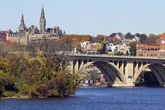 乔治城桥梁 免版税图库摄影