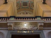乔治大厅内部利物浦st英国 库存图片