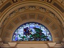 乔治大厅内部利物浦st 库存图片