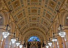 乔治大厅内部利物浦st 免版税库存图片