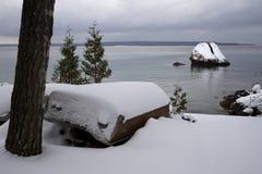 乔治湾海岸线12月上旬 免版税库存照片