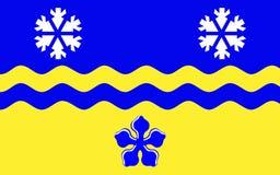 乔治王子旗子在不列颠哥伦比亚省,加拿大 免版税图库摄影