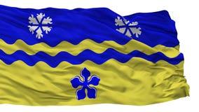 乔治City Flag,加拿大,不列颠哥伦比亚省王子,隔绝在白色背景 皇族释放例证