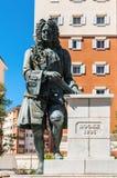 乔治Rooke先生海军上将雕象在直布罗陀 库存图片