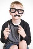 乔装的傻的男孩 免版税图库摄影