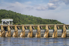 乔轮车水坝Guntersville阿拉巴马7 库存照片