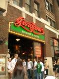 乔达诺的芝加哥样式薄饼著名餐馆 免版税库存照片