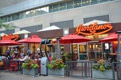 乔达诺的餐馆芝加哥 免版税库存照片