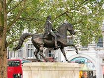 乔治三世国王雕象  免版税图库摄影