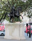 乔治三世国王雕象  免版税库存图片