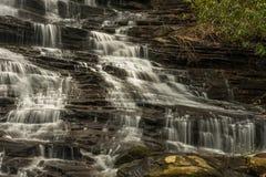 乔治亚和北卡罗来纳瀑布 库存照片