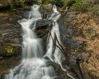 乔治亚和北卡罗来纳瀑布 库存图片