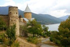 乔治亚国家,堡垒Ananuri 免版税库存图片