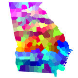 乔治亚地图 免版税图库摄影
