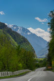 乔治亚山风景 免版税库存图片