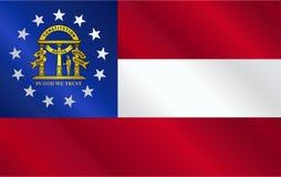 乔治亚状态旗子光泽 库存图片