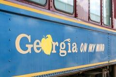 从乔治亚的一节老列车车箱 免版税库存图片