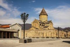 乔治亚-姆茨赫塔-生存Pil的Svetitskhoveli大教堂 免版税库存图片