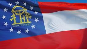 乔治亚(U S 在慢动作的状态)旗子无缝使成环与阿尔法 向量例证